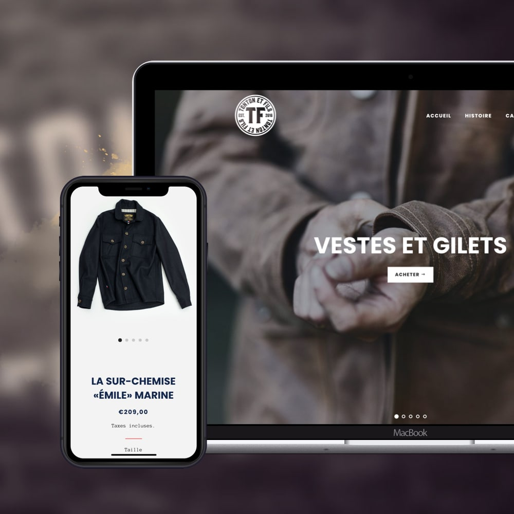 HELDISCH digital Design Web-Shop Tonton et Fils